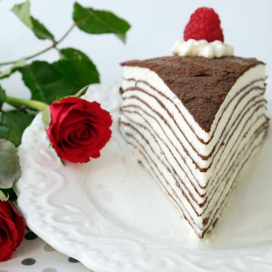 Блинный кето торт