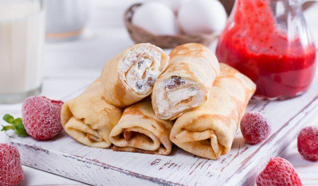 Кето-блины: рецепт с творожным сыром