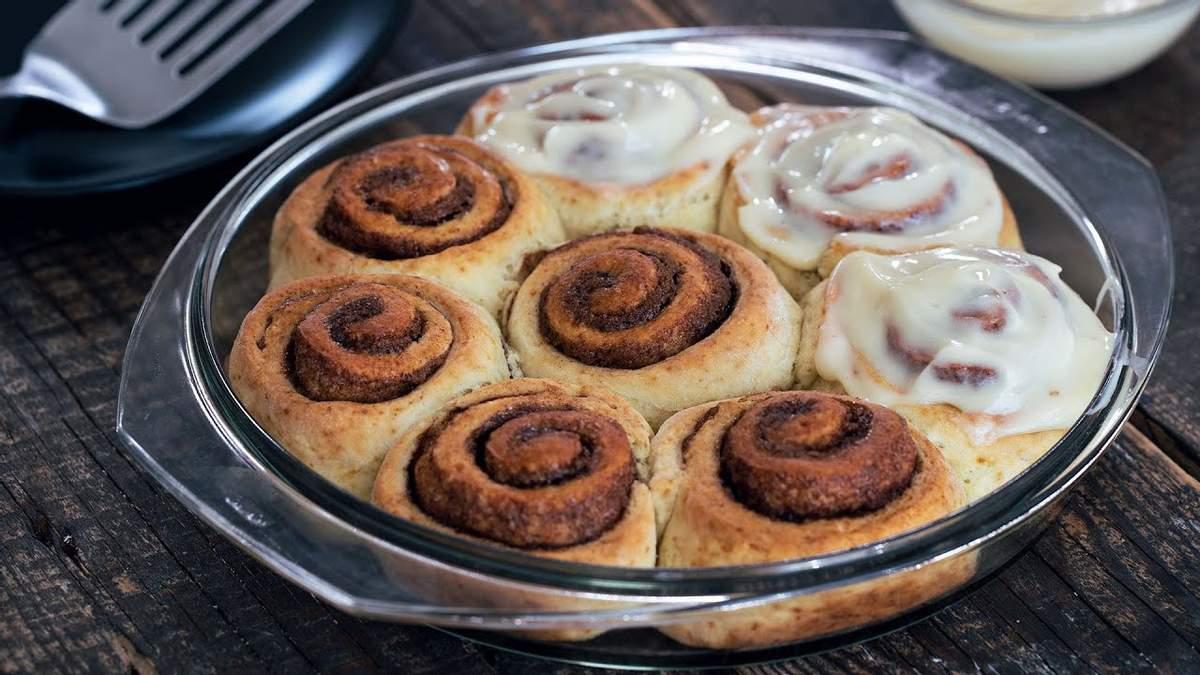 Творожные кето-булочки с корицей